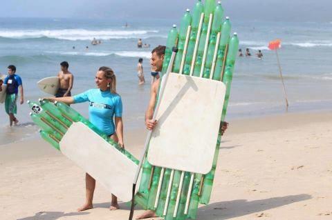 Tablas de Surf con botellas Pet