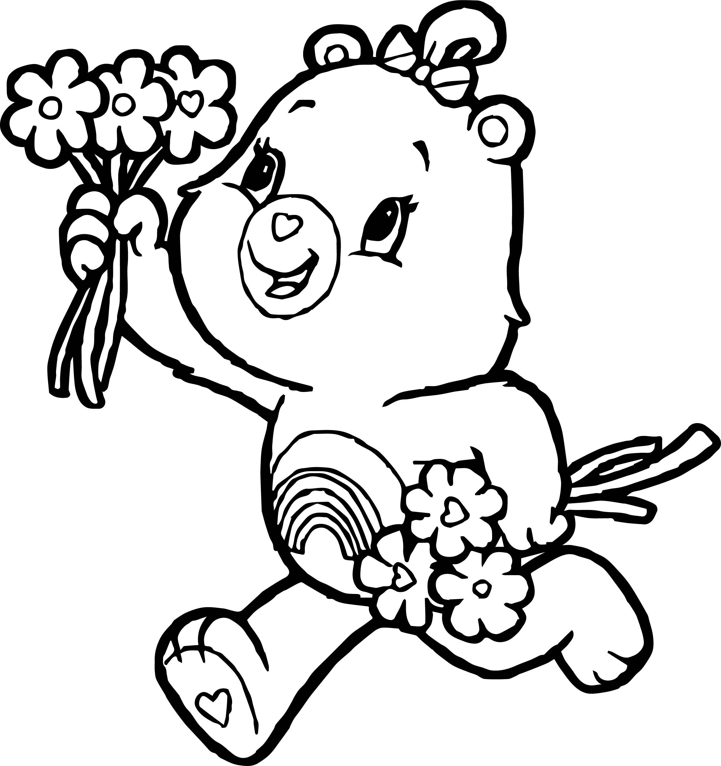 Awesome Care Bears Give Flower Adventures In Care A Lot