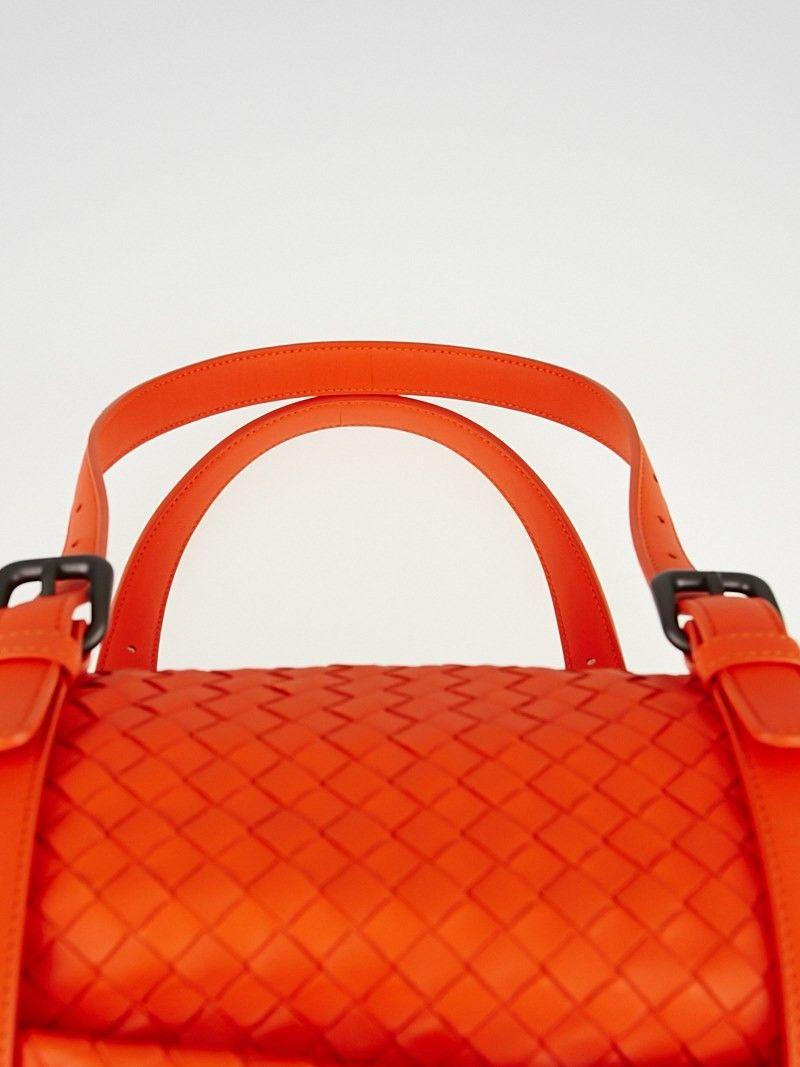 10ba235c597e Bottega Veneta Tangerine Intrecciato Woven Nappa Leather Montaigne Bag -  Handbags - 10050597
