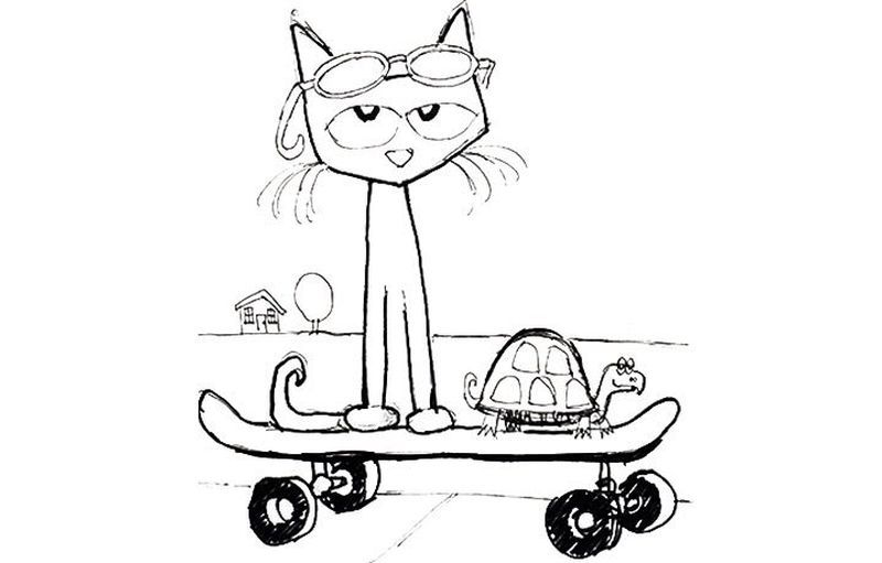 Printable Pete The Cat Coloring Pages For Kids Cat Coloring Page Dinosaur Coloring Pages Pete The Cat