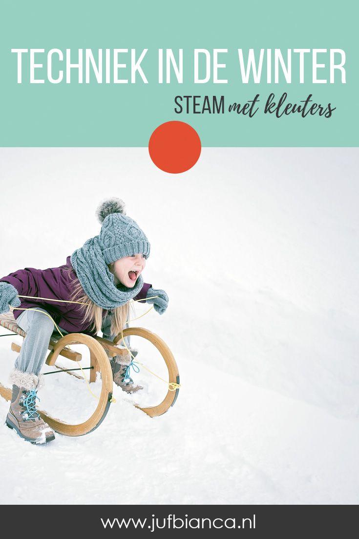 5x Techniek in de winter | JufBianca.nl #winterkleuters