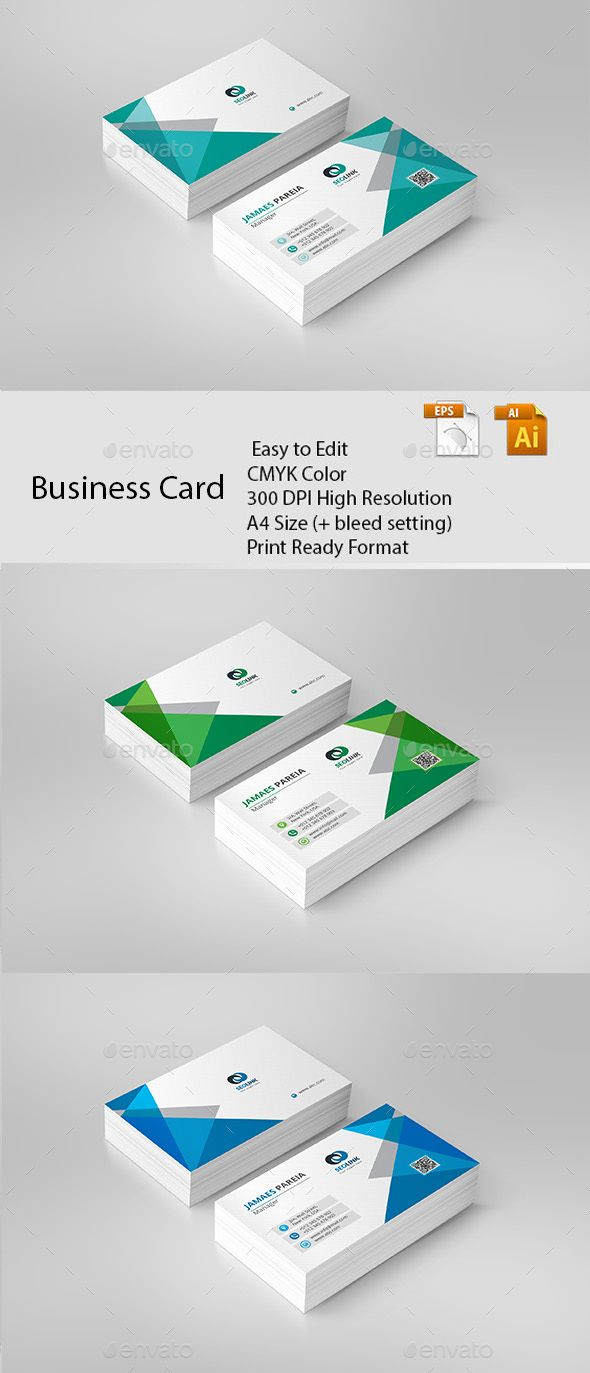 Business Card | Business cards, Card templates and Ai illustrator
