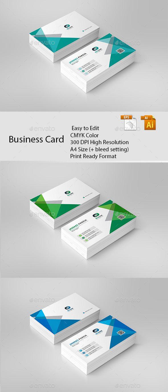 Business card pinterest business cards ai illustrator and card business card business card template vector eps ai illustrator fbccfo Images