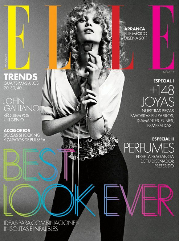 Nice Cover Elle Mexico Fashion Magazine Cover Magazine Cover Design Magazine Cover