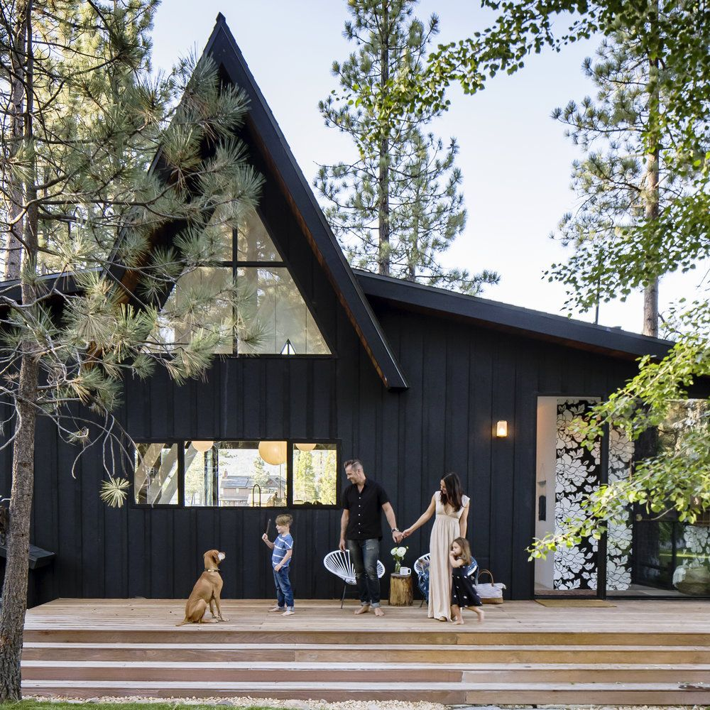 A-Frame Cabin Gets an A+ Makeover | Cabin, Icons and Woods