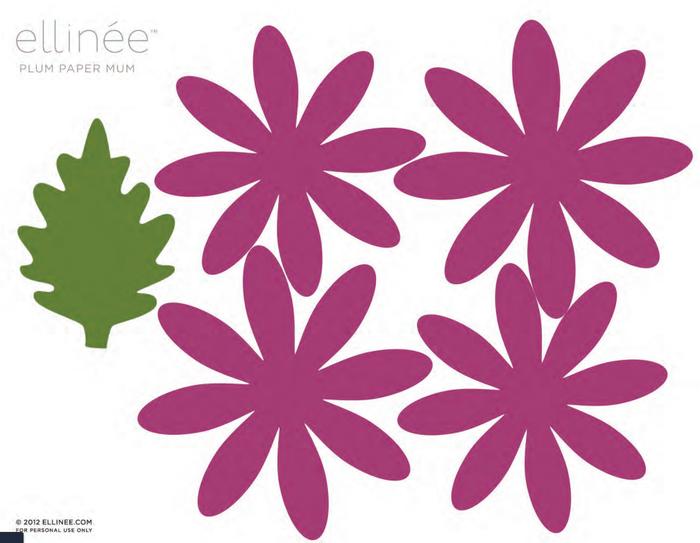 цветы из цветной бумаги шаблоны стропила