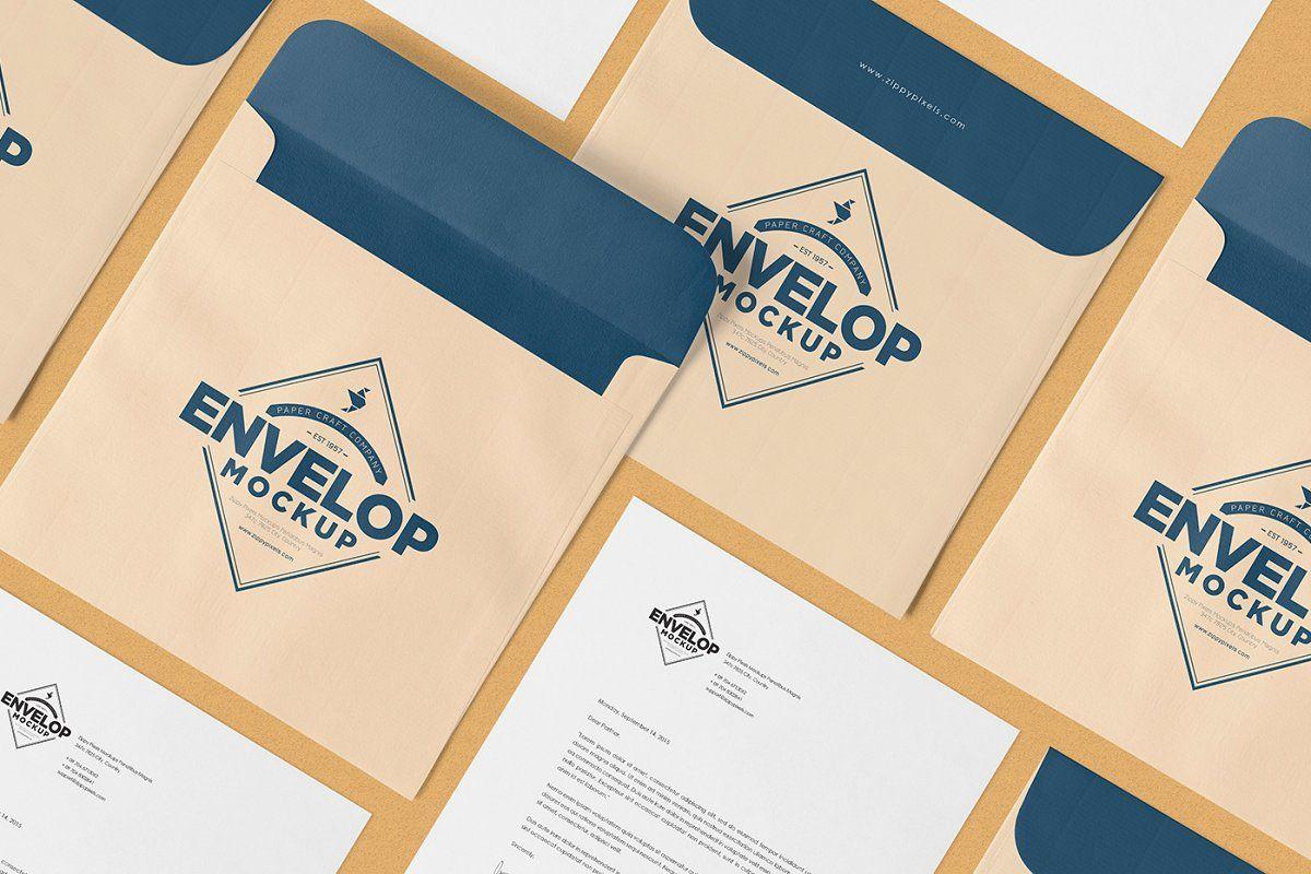 Square Envelope Mockups Square Envelopes Lettering Design Letterhead Design
