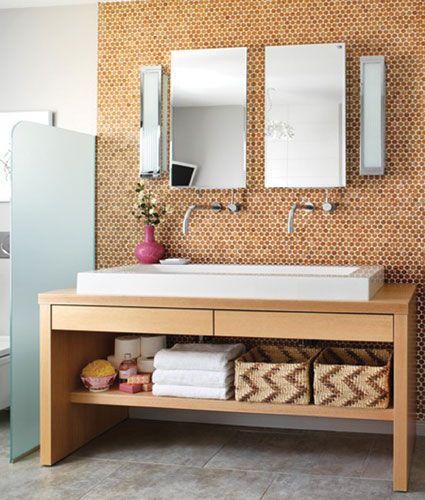 Habitus Cork Mosaic Tile The Habitus Collection Penny Tile Penny Tiles Bathroom Bathroom Makeover