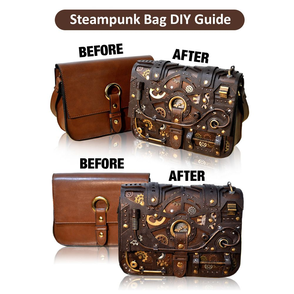 Bring your own unique and beautiful steampunk bag to life for Easy steampunk ideas