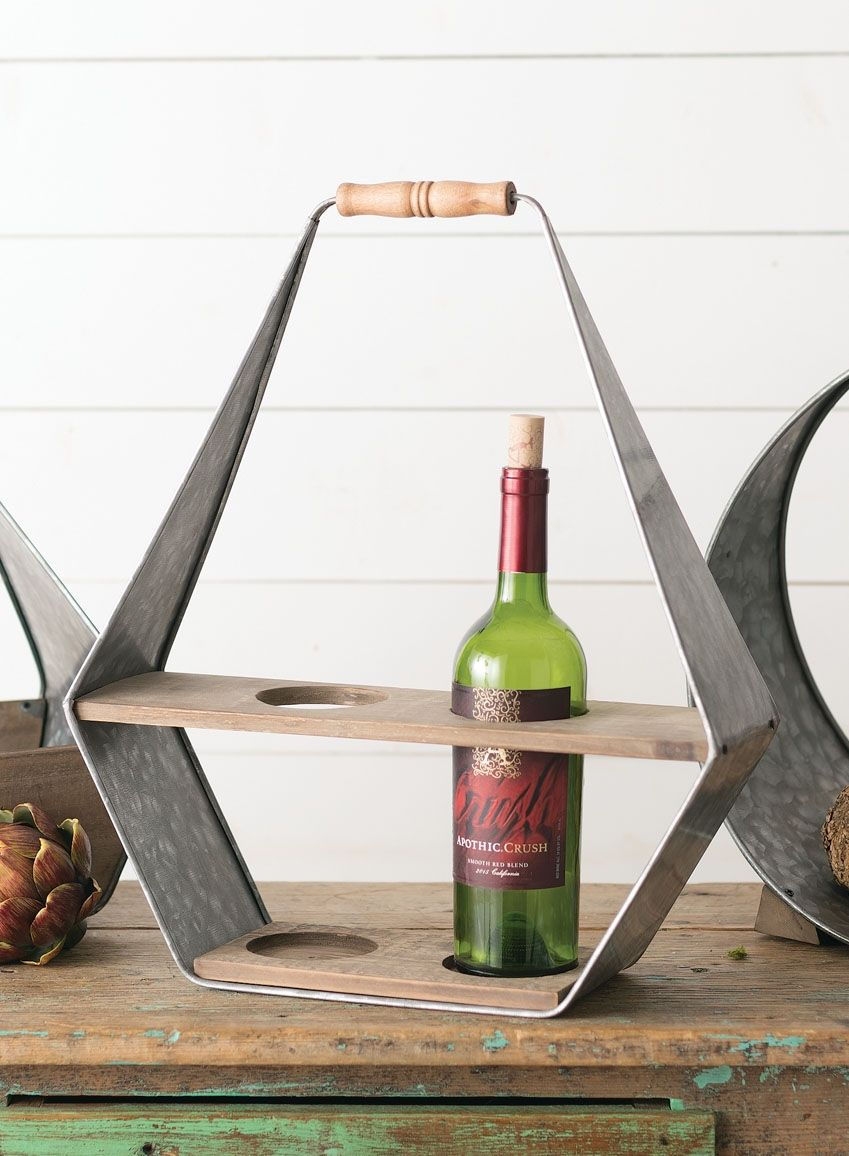 Wholesale Wine Carrier Home Decor Brown Silver Miscellaneous Sullivans Wine Carrier Wholesale Wine Wine