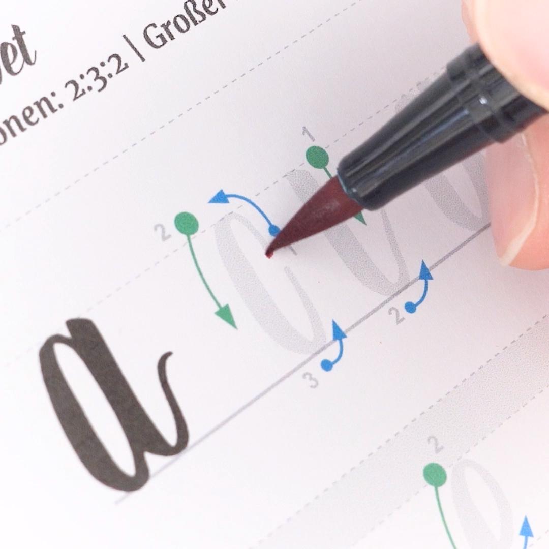 Brushlettering Workbook (für große Brushpens) #bible