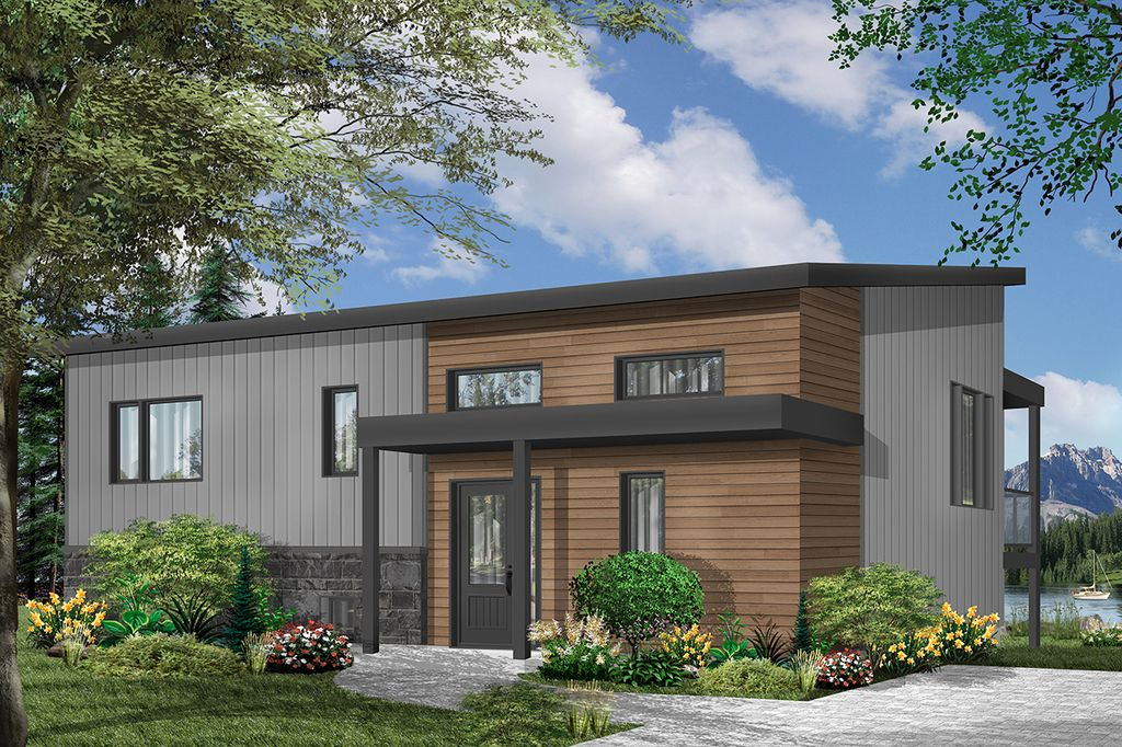 Modern Style House Plan 2 Beds 1 Baths 1064 Sq Ft Plan 23 2674 Modern Style House Plans Empty Nester House Plans Vacation House Plans