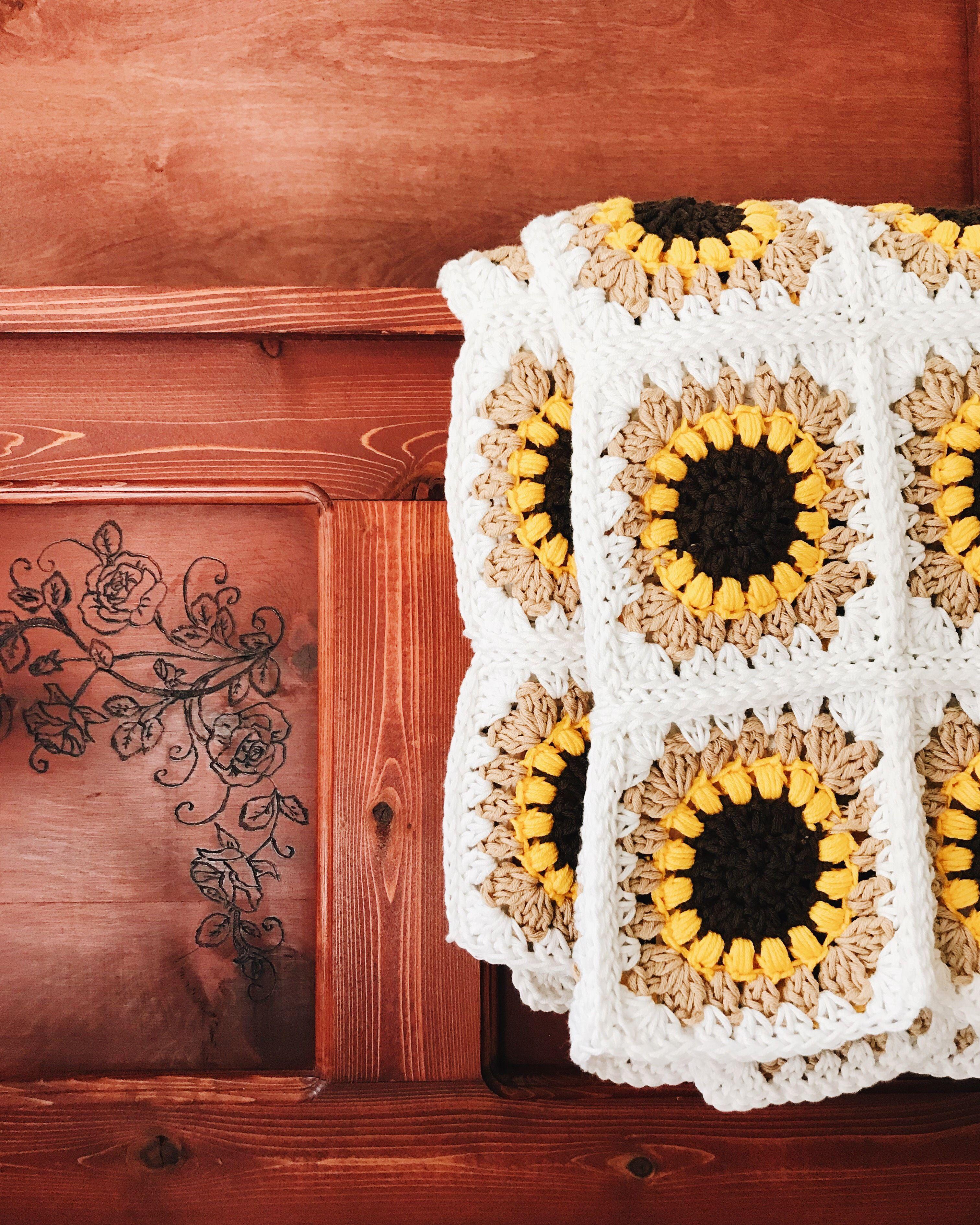 Free Crochet Pattern The Sunflower Blanket By Brennaannhandmade Crochet Patterns Free Blanket Crochet Patterns Crochet Blanket Patterns