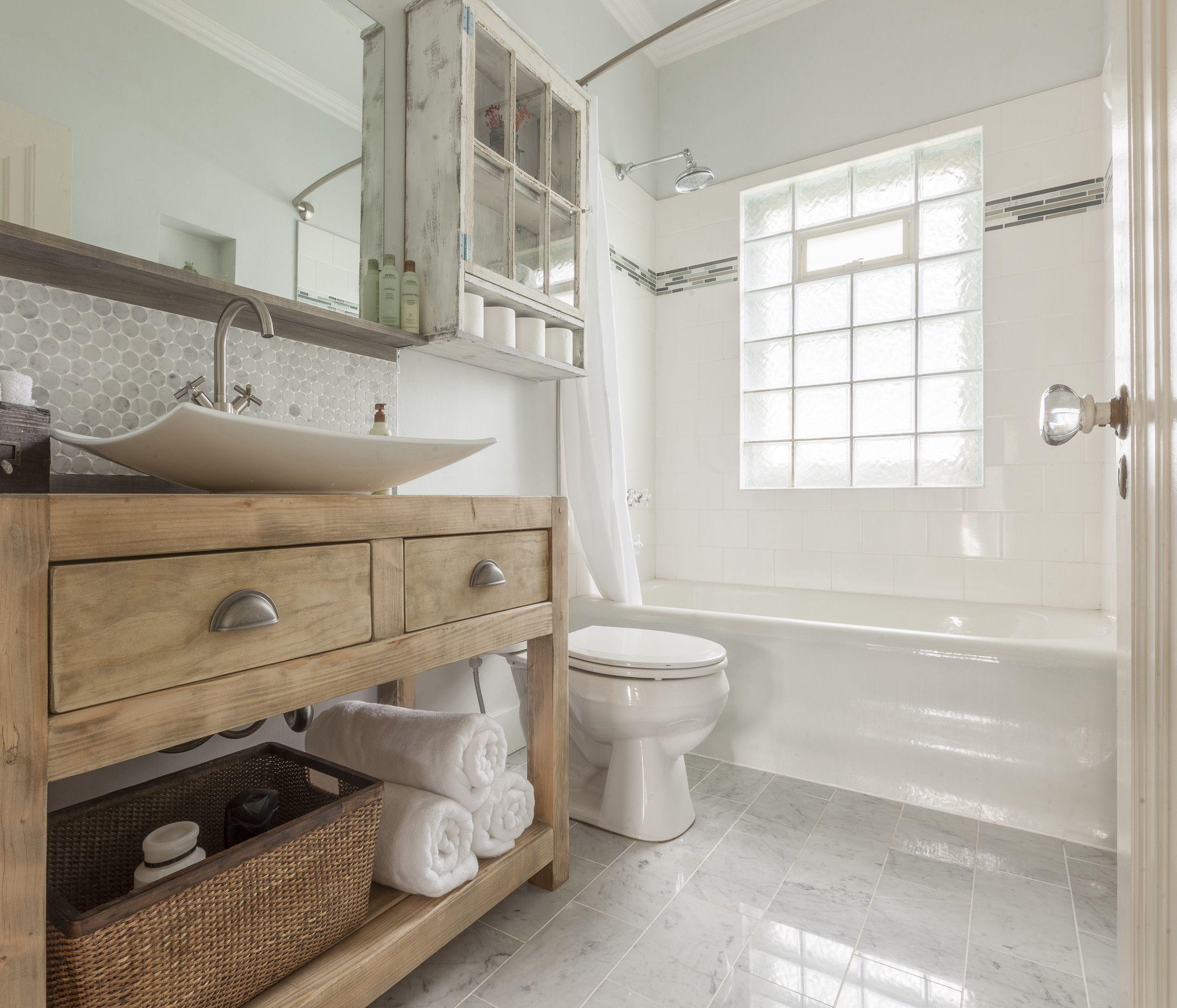 Rustic Modern Bathroom Carrera Marble Floor Jonathan Thrasher