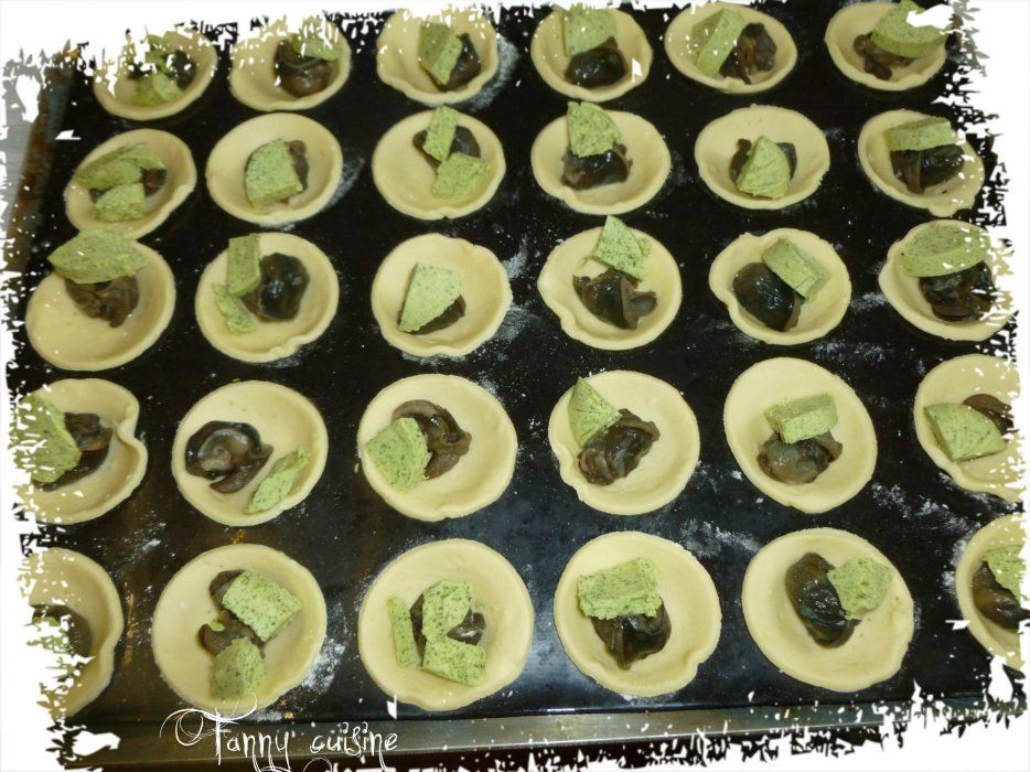 Tartelettes escargots et mini pizzas au thermomix