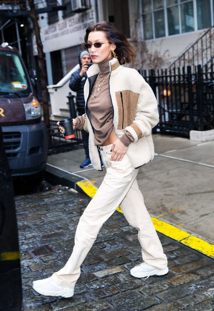 Bella Hadid Street Style Off White Monochrome Outfit