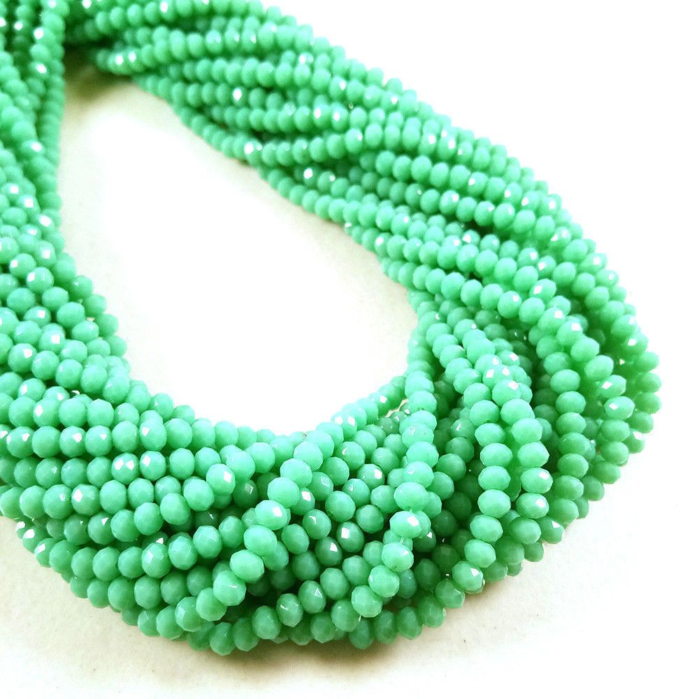 10 Strands Aqua Chalcedony Hydro Gemstone Faceted Approx 3