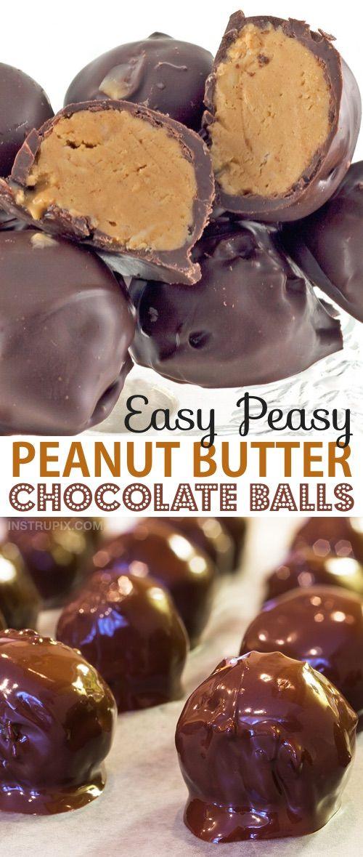 Easy No-Bake Peanut Butter Balls (A.K.A Truffles)