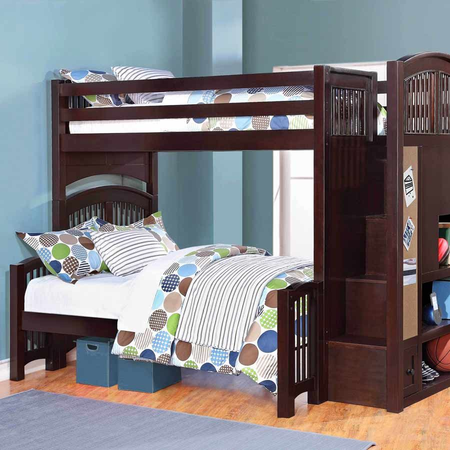 Loft bed plans with stairs  bunk bed plans diy  Google Search  Bunk Beds  Pinterest  Bunk