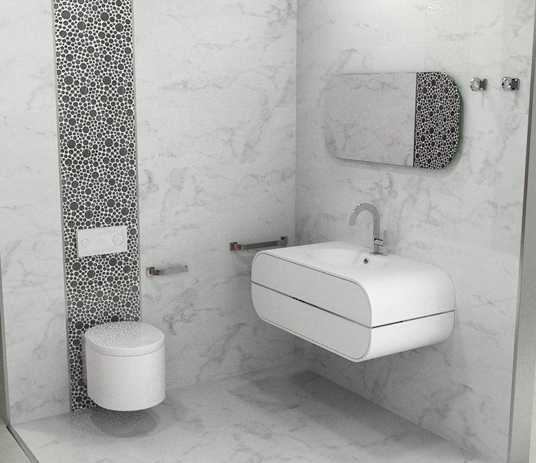 Porcelanosa marmol carrara 32x90 wall for Marmol de carrara