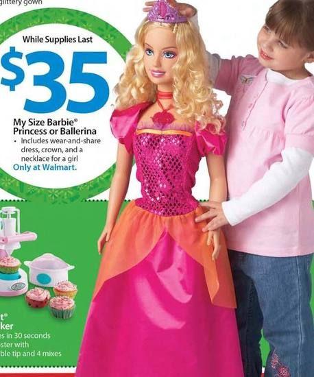 My Size Barbie My Size Barbie Barbie Princess Barbie