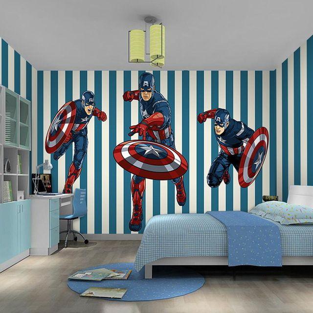 Papel De Parede Captain America Wallpaper Mural Big Cinema