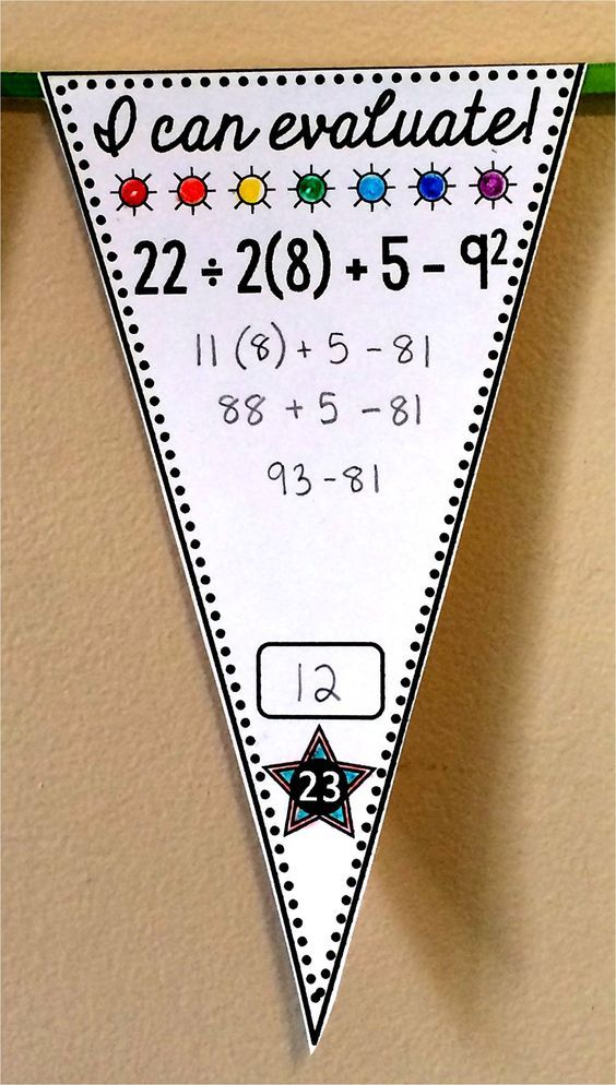 A FREE pennant for order of operations (30 pennants + 2 harder BONUS ...