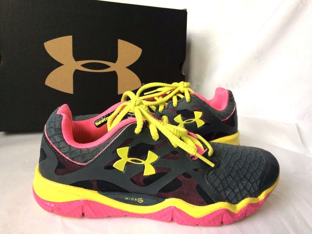 Womens Under Armour PIP Micro G Monza Running Shoes Sneakers Size 7 ... 9d727fdfe