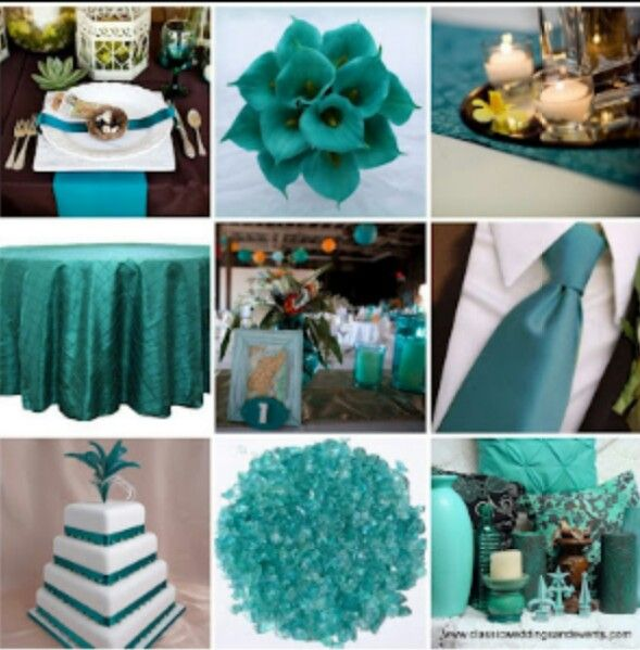 Teal and Wedding