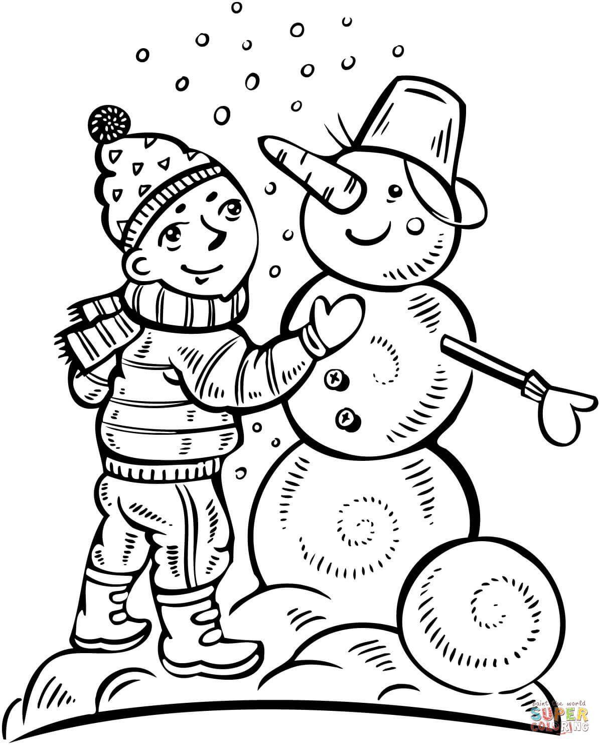 Supercoloring Snowman Collection