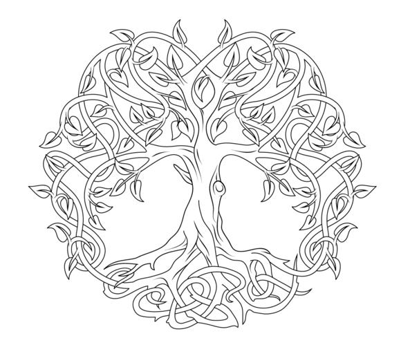 Coloriage A Imprimer Arbre De Vie.Celtic Tree Of Life Coloring Page Tree Of Life Coloriage