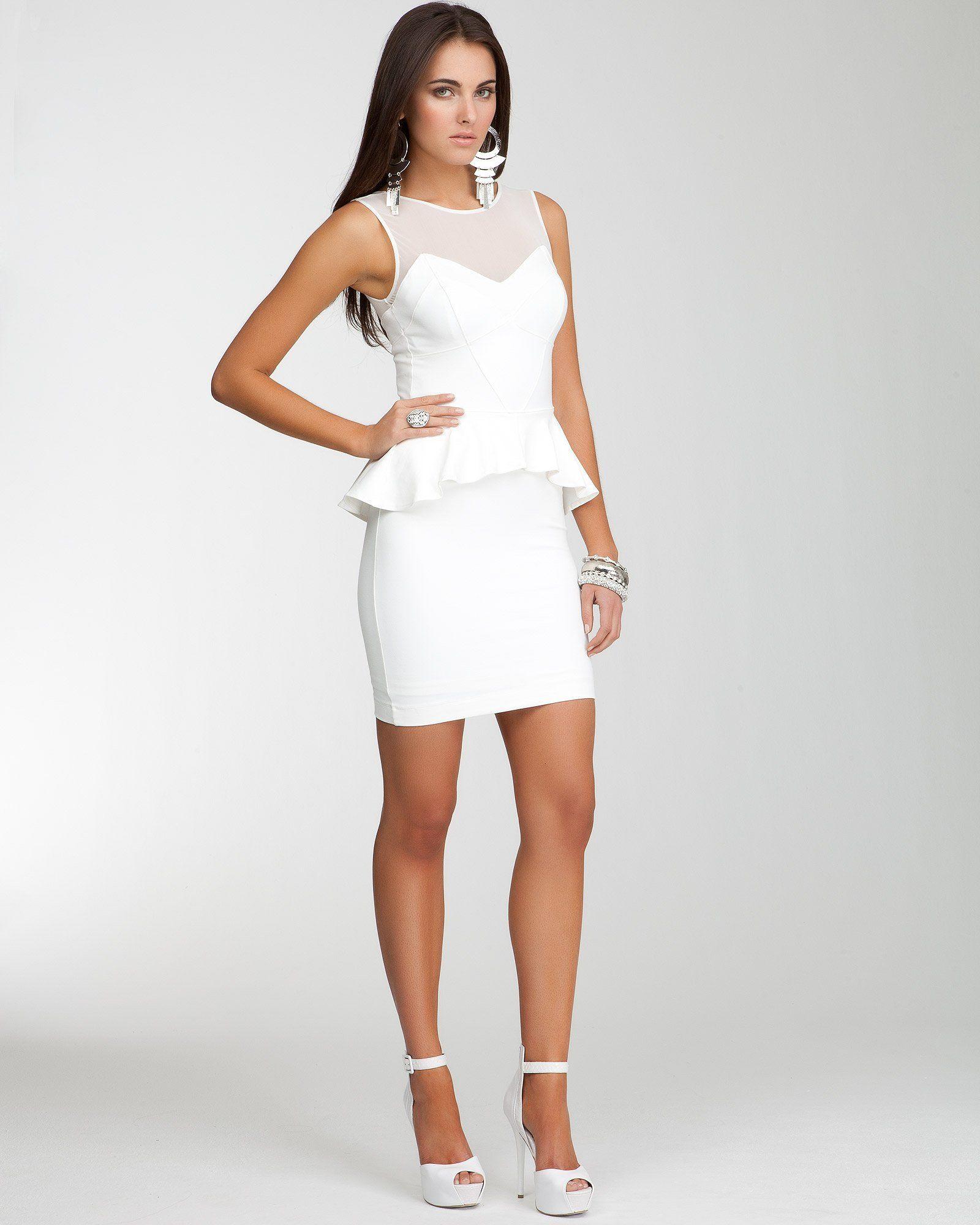 bebe stella peplum dress just might be my white dress
