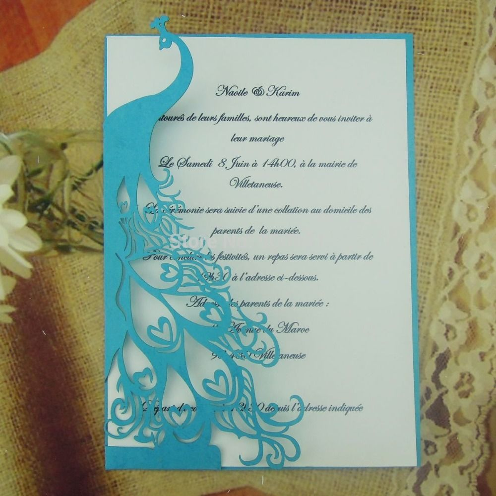 Buy Quality invite speaker directly from China card sensor Suppliers: Laser cut peacock wedding invitation card : 1