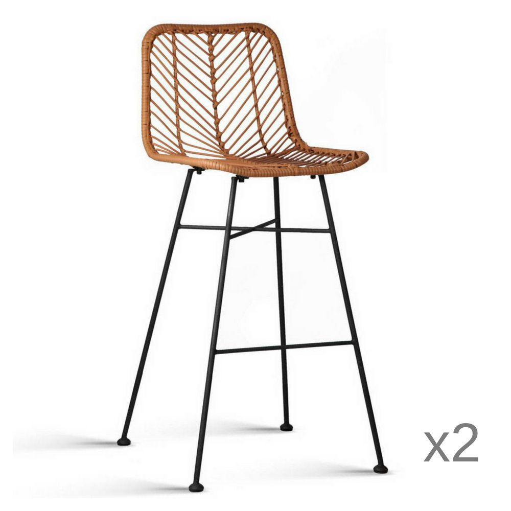 Byron Rattan Bar Stool Natural Coastal Furnishings Buy Online In Australia Rattan Bar Stools Wicker Bar Stools Outdoor Bar Stools