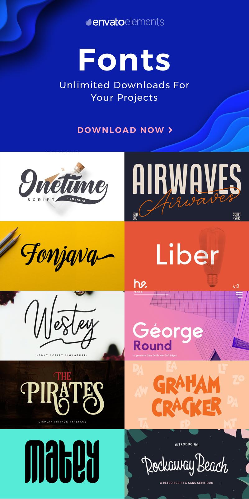 Discover Thousands of Serif, Sans-Serif or Script Font Types