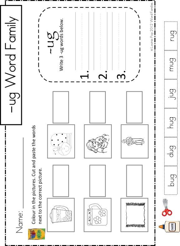 {ug Word Family GamesActivitiesWorksheets This is a – Ug Word Family Worksheets