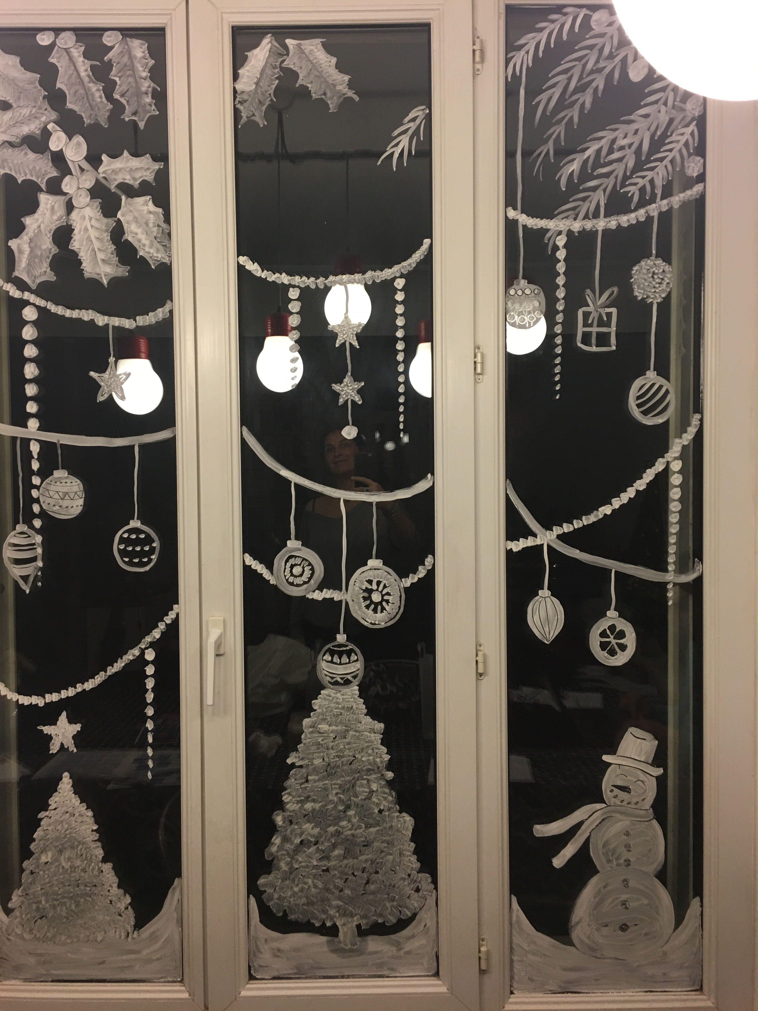 Dessiner Sur Une Vitre à Noël Deco Noel Decoration