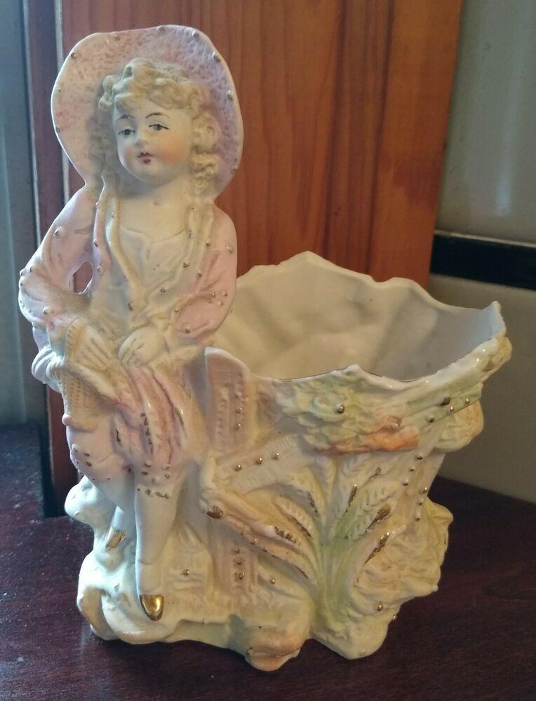 Bisque statue figurine vintage 1960/'s girls pyrogen