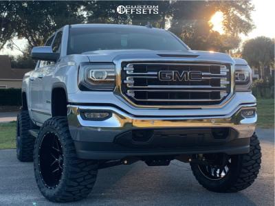 2018 Gmc Sierra 1500 22x12 44mm Hardrock Affliction Xposed In