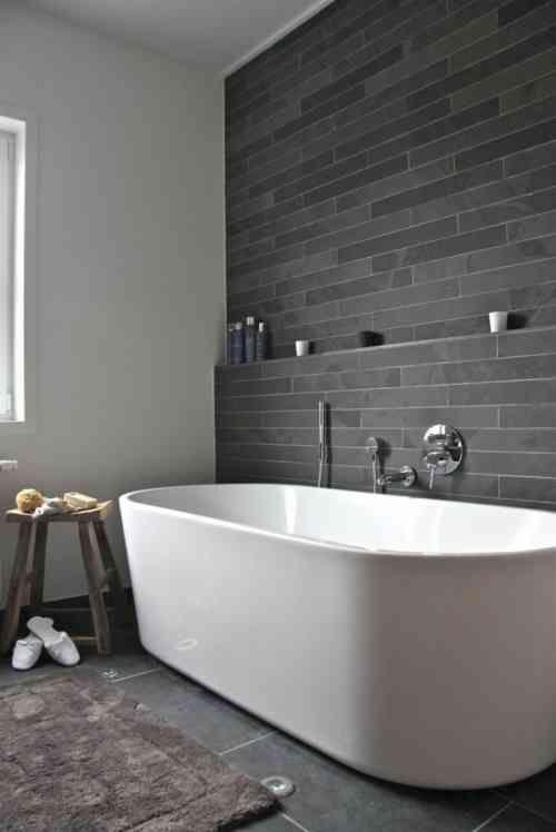 Salle de bain ardoise  naturelle et chic Apartment ideas - salle de bain ardoise