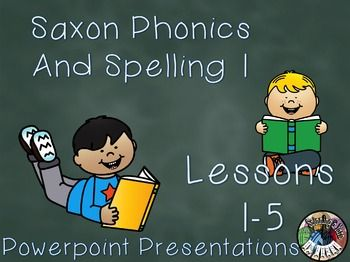 Saxon Phonics And Spelling Grade 1 Lessons 1 5 Powerpoints First Grade Saxon Phonics Phonics Phonics Kindergarten