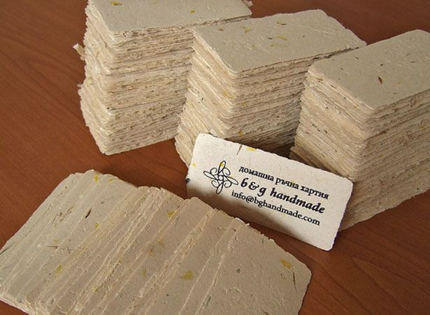 Eco friendly business cards i like the flower petals business by using only cost effective elements these eco friendly recycled paper business cards are created these papers are chlorine free reheart Choice Image
