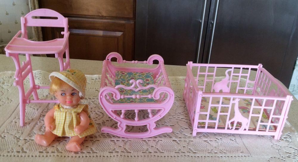 playpen vintage plastic doll