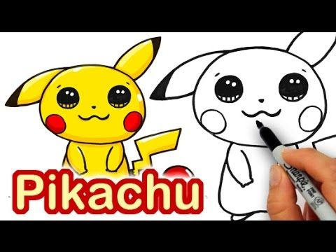 how to draw pokemon go pikachu cute step by step easy youtube