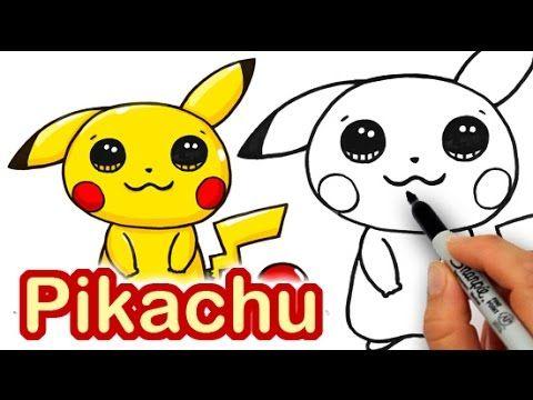 How To Draw Pokemon Pikachu Cute Step By Step Cute Kawaii Drawings Cute Drawings Pokemon Drawings