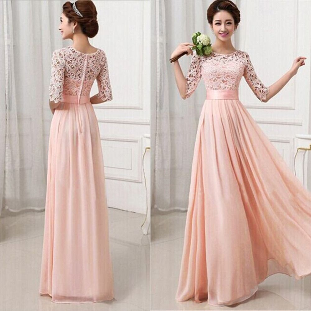 Women Long Sexy Evening Party Ball Prom Gown Formal Dresses ...