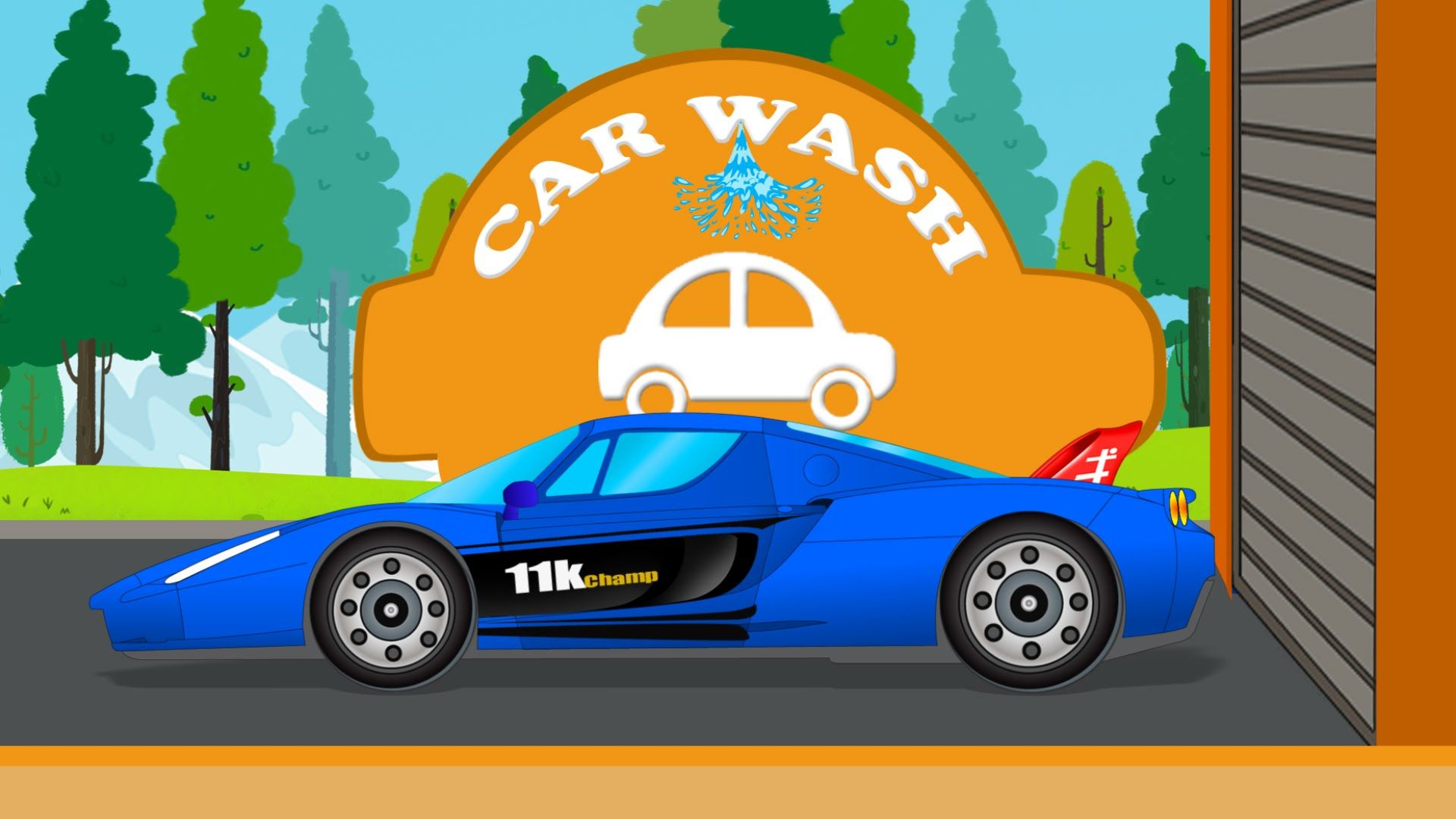 Racing Car Car Wash Game For Kids Teaching Kids Educational Videos Abc For Kids