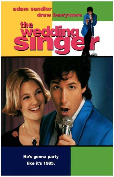 The Wedding Singer Party Like It S 1985 Adam Sandler Movie Poster 11x17 The Wedding Singer Wedding Singer Movie Comedy Movies