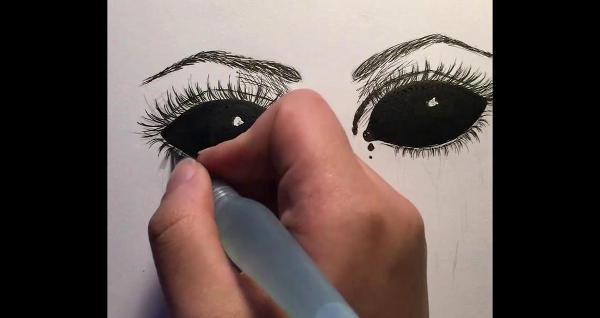How To Draw Demon Eyes Tutorial Youtube In 2020 Eye Drawing Tutorials Evil Eye Art Demon Eyes