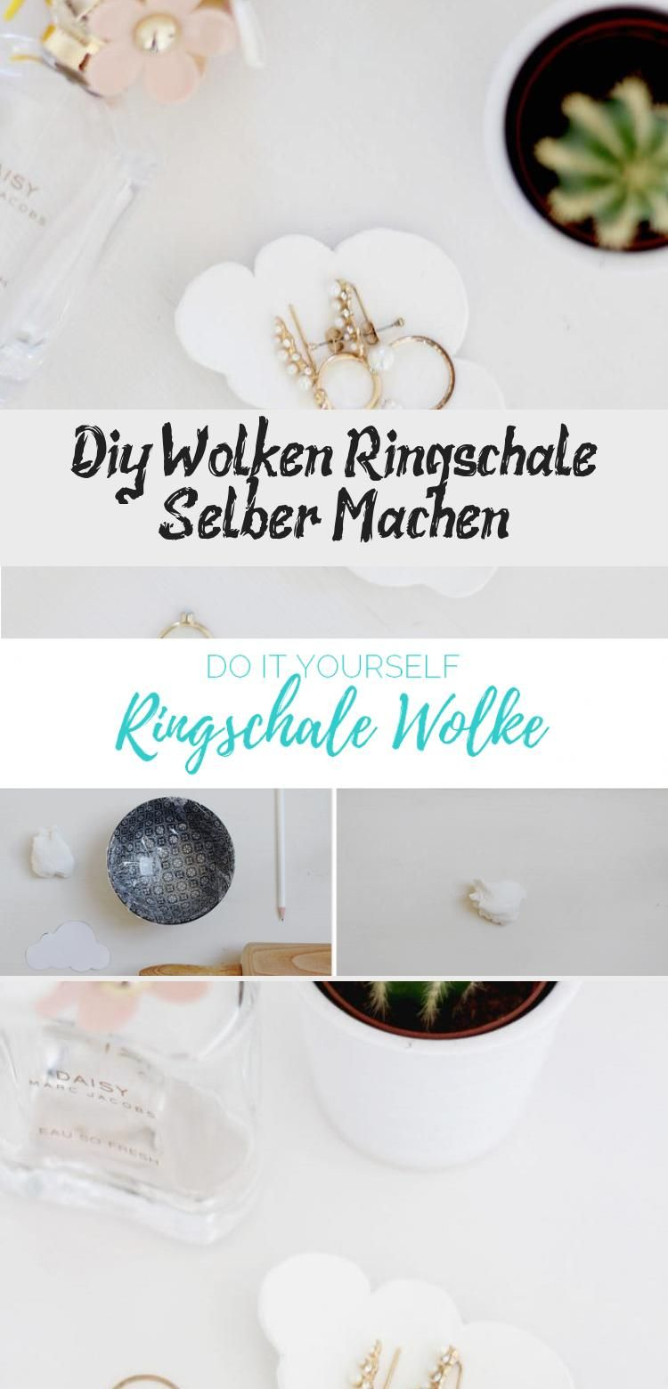 Diy Wolken Ringschale Selber Machen In 2020 Place Card Holders Card Holder Place Cards